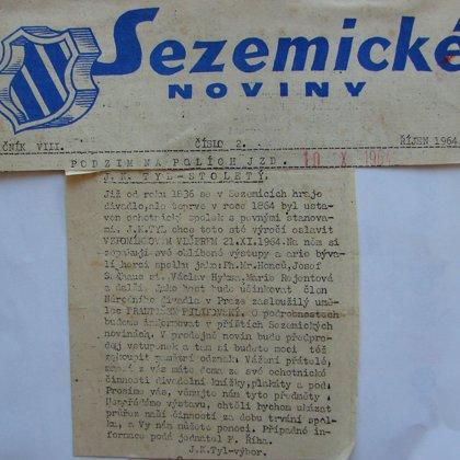 Sezemické noviny 10.10.1964